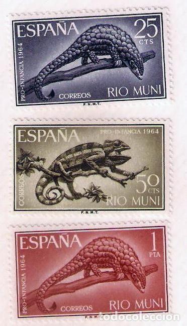 SERIE SELLOS RIO MUNI 1964 - PRO INFANCIA - FAUNA (Sellos - España - Colonias Españolas y Dependencias - África - Río Muni)