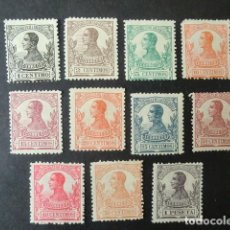 Sellos: GUINEA,1912,ALFONSO XIII,EDIFIL 85-95*,NO COMPLETA,NUEVOS CON SEÑAL FIJASELLO,(LOTE AB). Lote 76660855