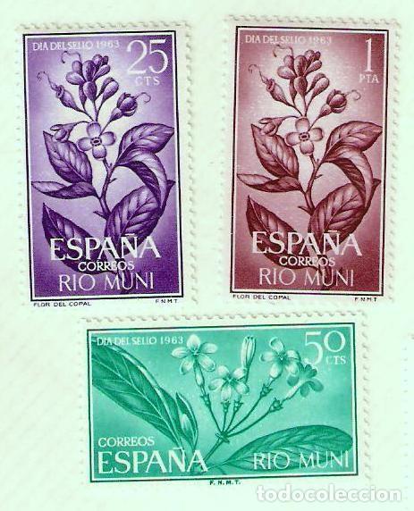 SERIE SELLOS RIO MUNI 1964 - DIA DEL SELLO 1963 - FLORA (Sellos - España - Colonias Españolas y Dependencias - África - Río Muni)