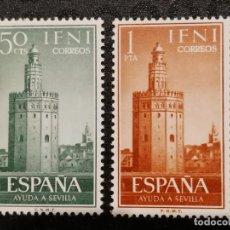Sellos: NUEVO - EDIFIL 193/194 CON FIJASELLOS - IFNI AÑO 1963 MH. Lote 76902551