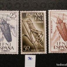 Sellos: NUEVO - EDIFIL 200/202 CON FIJASELLOS - IFNI AÑO 1964 MH. Lote 76902767