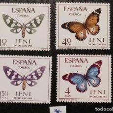 Sellos: NUEVO - EDIFIL 221/224 CON FIJASELLOS - IFNI AÑO 1966 MH. Lote 76903351
