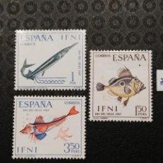 Sellos: NUEVO - EDIFIL 230/232 CON FIJASELLOS - IFNI AÑO 1967 MH. Lote 76903627