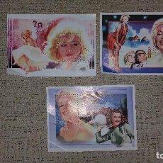 Sellos: LOTE 3 PLANCHAS SELLOS MARILYN MONROE SAHARA 1996 IMÁGENES DE SU VIDA. Lote 77725453