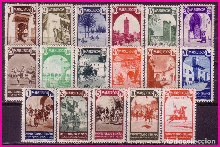 MARRUECOS 1940 TIPOS DIVERSOS, EDIFIL Nº 200 A 216 * * COMPLETA (Sellos - España - Colonias Españolas y Dependencias - África - Marruecos)