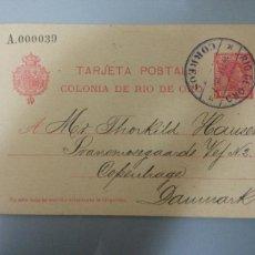 Sellos: ESCEPCIONAL TARJETA POSTAL COLONIA DE RIO DE ORO 1907 (SIMPLE) TIRADA 250 UNID.. Lote 79682099