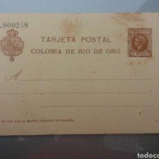 Sellos: ESCEPCIONAL TARJETA POSTAL COLONIA DE RIO DE ORO 1905 (SIMPLE) TIRADA 250 UNID.ALFONSO XIII INFANTE. Lote 79685954