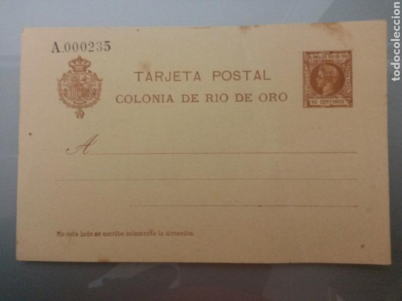 ESCEPCIONAL TARJETA POSTAL COLONIA DE RIO DE ORO 1905 (SIMPLE) TIRADA 250 UNID.ALFONSO XIII INFANTE (Sellos - España - Colonias Españolas y Dependencias - África - Río de Oro)