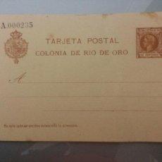 Sellos: ESCEPCIONAL TARJETA POSTAL COLONIA DE RIO DE ORO 1905 (SIMPLE) TIRADA 250 UNID.ALFONSO XIII INFANTE. Lote 79687834