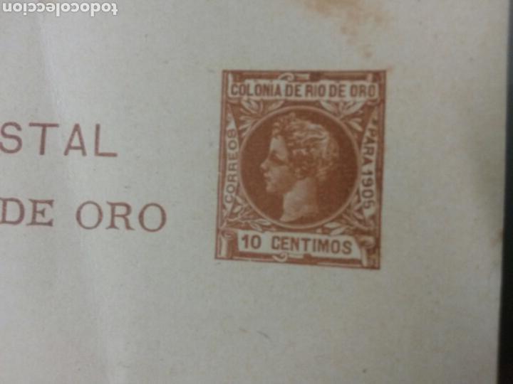 Sellos: ESCEPCIONAL TARJETA POSTAL COLONIA DE RIO DE ORO 1905 (simple) TIRADA 250 Unid.ALFONSO XIII INFANTE - Foto 3 - 79687834