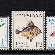 Sellos: IFNI 230/32** - AÑO 1967 - FAUNA MARINA - PECES - DÍA DEL SELLO. Lote 109520446
