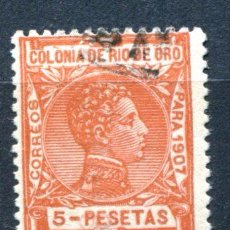 Sellos: EDIFIL 32 DE RIO DE ORO. 5 PTS AÑO 1907, MATASELLADO.. Lote 80992760