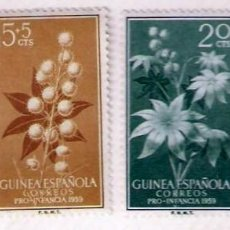 Sellos: SELLOS GUINEA ESPAÑOLA 1959 - PRO INFANCIA. Lote 81042712