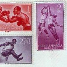 Sellos: SERIE DE SELLOS GUINEA ESPAÑOLA 1958 – DEPORTES. Lote 81042920