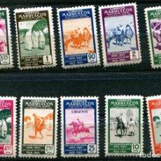 Briefmarken - Edifil 384/393 de Marruecos español, nuevos sin fijasellos. - 81203904