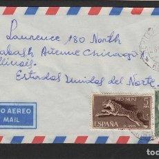Sellos: CARTA MATASELLO 1970 DE SEVILLA DE NIEFANG ( RIO MUNI )A ESTADOS UNIDOS .SIN LLEGADA. RARA . Lote 81303376