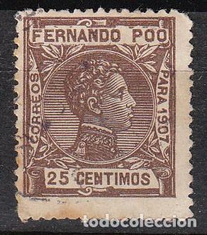 FERNANDO POO EDIFIL 159, ALFONSO XIII (1907), USADO (Sellos - España - Colonias Españolas y Dependencias - África - Fernando Poo)