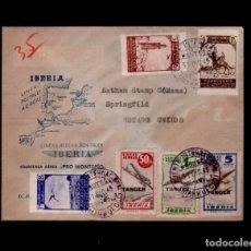 Sellos: C9-19- 13 MARRUECOS CARTA CIRCULADA POR CORREO AEREO DE TANGER A SPRINGFILD (ESTADOS UNIDOS) CON LA. Lote 82062936