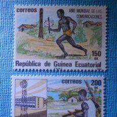 Sellos: SELLO - GUINEA ECUATORIAL EDIFIL Nº 45 Y 46 - AÑO MUNDIAL COMUNICACIONES - 1983 - 150 Y 200 BK. Lote 82240948
