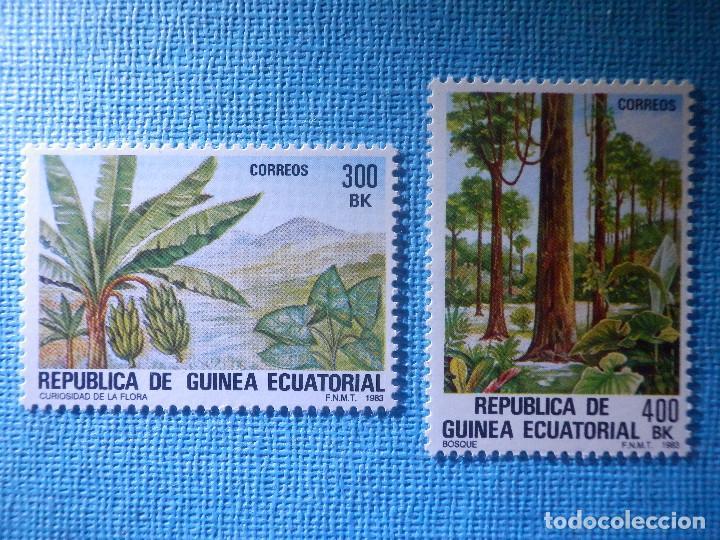SELLO - GUINEA ECUATORIAL EDIFIL Nº 47 Y 48 - FLORA AUTÓCTONA - 1983 - 300 Y 400 BK (Sellos - España - Colonias Españolas y Dependencias - África - Otros)