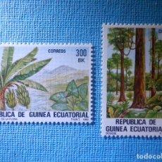 Sellos: SELLO - GUINEA ECUATORIAL EDIFIL Nº 47 Y 48 - FLORA AUTÓCTONA - 1983 - 300 Y 400 BK. Lote 82241036