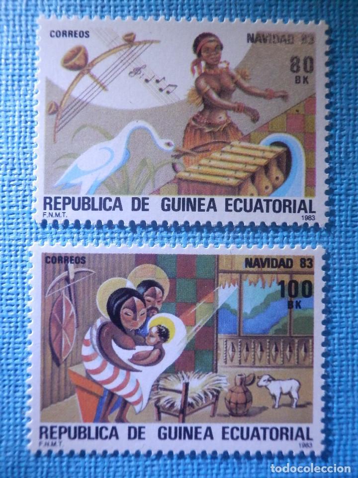 SELLO - GUINEA ECUATORIAL - EDIFIL Nº 49 Y 50 - NAVIDAD - 1983 - 80 Y 100 BK (Sellos - España - Colonias Españolas y Dependencias - África - Otros)