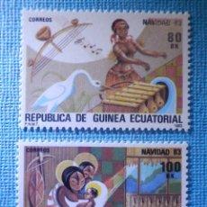 Sellos: SELLO - GUINEA ECUATORIAL - EDIFIL Nº 49 Y 50 - NAVIDAD - 1983 - 80 Y 100 BK. Lote 82241404