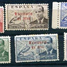 Selos: EDIFIL 59/64 DE GUINEA ESPAÑOLA. SERIE COMPLETA DE LA CIERVA CON SOBRECARGA. NUEVOS SIN FIJASELLOS.. Lote 82966720