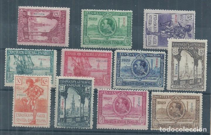 .WB/ GUINEA 191/201, MAGNIFICOS, CAT. 160€, NUEVOS CON GOMA SIN FIJASELLOS (Sellos - España - Colonias Españolas y Dependencias - África - Guinea)