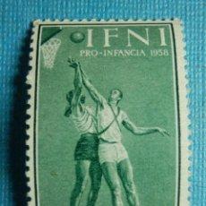 Sellos: SELLO - ESPAÑA - IFNI - PRO INFANCIA 1958 - 20 CTS - EDIFIL 147 - NUEVO SIN CHARNELA. Lote 91000025
