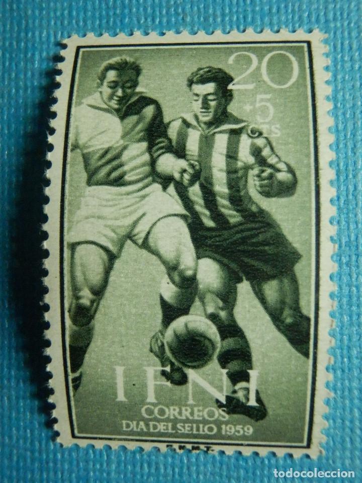 SELLO - ESPAÑA - IFNI - DIA DEL SELLO 1959 - 20 + 5 CTS - EDIFIL 157 - NUEVO SIN CHARNELA (Sellos - España - Colonias Españolas y Dependencias - África - Ifni)