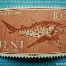 Sellos: SELLO - ESPAÑA - IFNI - DIA DEL SELLO 1958 - 10 + 5 CTS - EDIFIL 149 - NUEVO SIN CHARNELA. Lote 91004540