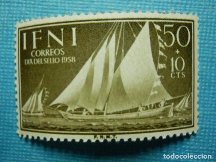 SELLO - ESPAÑA - IFNI - DIA DEL SELLO 1958 - 50 + 10 CTS - EDIFIL 151 - NUEVO SIN CHARNELA (Sellos - España - Colonias Españolas y Dependencias - África - Ifni)