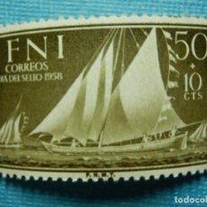 Sellos: SELLO - ESPAÑA - IFNI - DIA DEL SELLO 1958 - 50 + 10 CTS - EDIFIL 151 - NUEVO SIN CHARNELA. Lote 91004805
