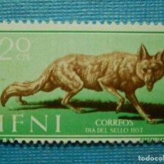 Sellos: SELLO - ESPAÑA - IFNI - DIA DEL SELLO 1957 - 20 CTS - EDIFIL 140 - NUEVO SIN CHARNELA. Lote 91006435