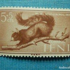 Sellos: SELLO - ESPAÑA - IFNI - DIA DEL SELLO 1955 - 5 + 5 CTS - EDIFIL 125 - NUEVO SIN CHARNELA. Lote 91006750