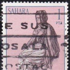 Sellos: 1972 - SAHARA - TIPOS INDIGENAS - EDIFIL 297. Lote 91277915