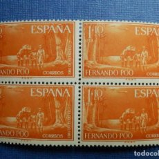 Sellos: SELLO - ESPAÑA - FERNANDO POO - DIA DEL - EDIFIL 206 - 1960 - 1 PTS + 10 CTS - BLOQUE DE 4 - NUEVOS. Lote 91309435