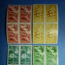 Sellos: SELLO - ESPAÑA - GUINEA ESPAÑOLA - PRO INF - EDIFIL 391, 392, 393, 394 - 1959 - SERIE EN BLOQUE DE 4. Lote 91315175