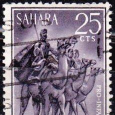 Sellos: 1963 - SAHARA - NOMADAS - PRO INFANCIA - EDIFIL 217. Lote 91340320