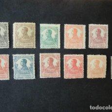 Sellos: GUINEA,1912,ALFONSO XIII,EDIFIL 85*-95*,NO COMPLETA,NUEVOS,SEÑAL FIJASELLO,Nº 94 MARQUILLA,(LOTE AB). Lote 91849595