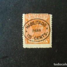 Sellos: RIO DE ORO,1911-1913,ALFONSO XIII,HABILITADO,EDIFIL 64*,NUEVO CON FIJASELLO,(LOTE AB). Lote 92832105