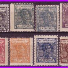 Sellos: ELOBEY, ANNOBÓN Y CORISCO 1907 ALFONSO XIII, EDIFIL Nº 36 A 44 SIN 37 * *. Lote 95483927