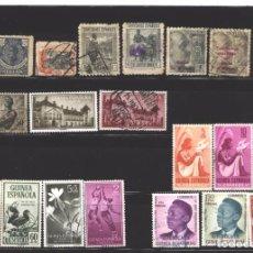 Sellos: GUINEA ESPAÑOLA Y ECUATORIAL - LOTE SELLOS VARIOS - SIN GOMA Y USADOS. Lote 96040831