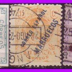Timbres: TÁNGER 1921 SELLOS DE ESPAÑA HABILITADOS, EDIFIL Nº 13 * 15 Y 16 (O). Lote 96153255