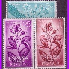 Sellos: RIO MUNI 1964 DIA DEL SELLO, EDIFIL Nº 42 A 44 * *. Lote 96417723