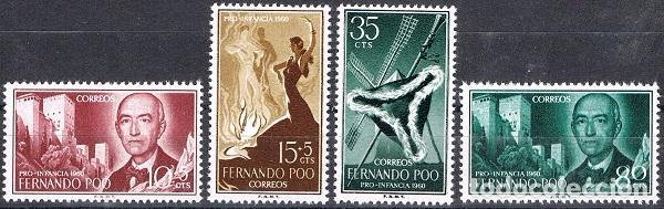 [CF6082] FERNANDO POO 1960, PRO-INFANCIA: MANUEL DE FALLA (MNH) (Sellos - España - Colonias Españolas y Dependencias - África - Fernando Poo)