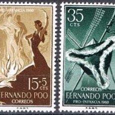 Sellos: [CF6082] FERNANDO POO 1960, PRO-INFANCIA: MANUEL DE FALLA (MNH). Lote 81711372
