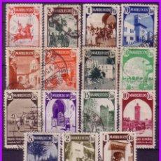 Sellos: MARRUECOS 1940 TIPOS DIVERSOS, EDIFIL Nº 200 A 216 SIN 214 NI 215 (O). Lote 96633759