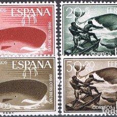 Sellos: [CF6083] FERNANDO POO 1960, SERIE DÍA DEL SELLO: BALLENAS (MNH). Lote 261151870